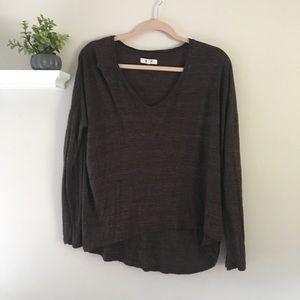 Madewell Basic Brown Long Sleeve Shirt